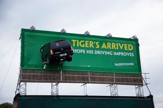 paddy power tigers crashed car hoarding