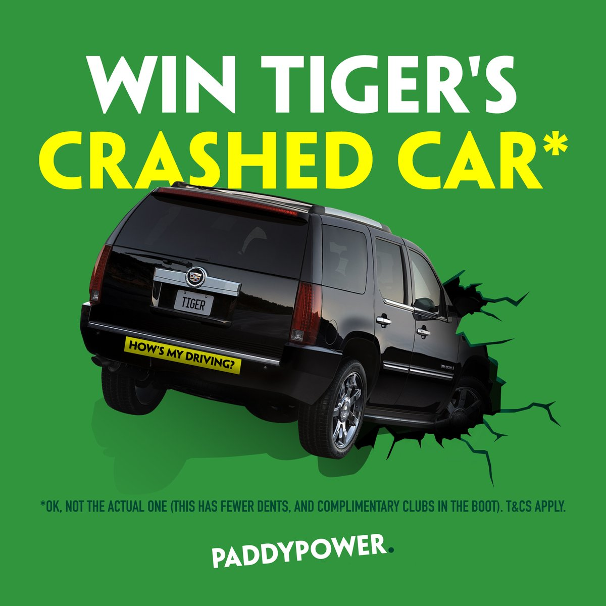 paddy power tigers crashed car