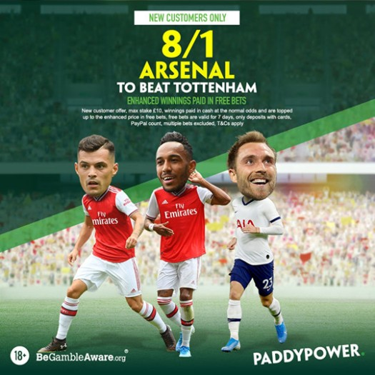 paddy power arsenal spurs