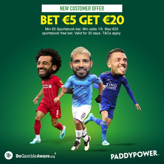 paddy power 20euro free bet