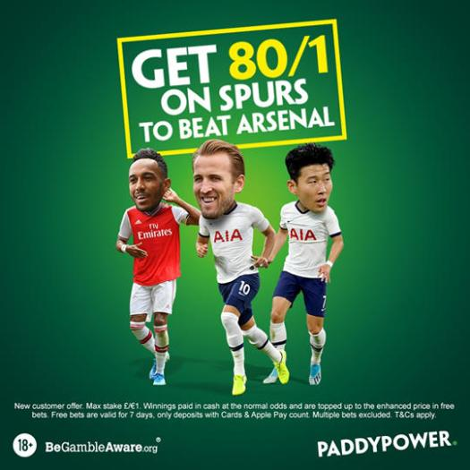 power spurs arsenal 80 to 1